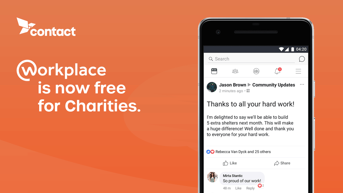 workplace is now free for charities